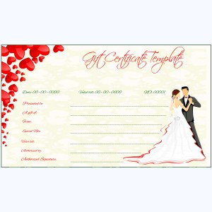 Wedding Gift Certificate Template Word