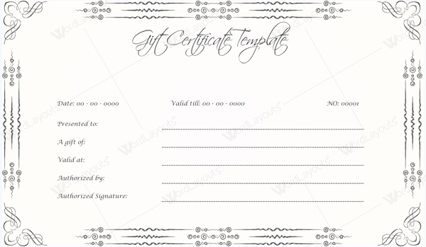 10 Gift Certificate Templates to Appear Professional – Gift Voucher Templates for Word