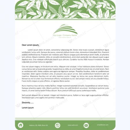 professional letterhead template free