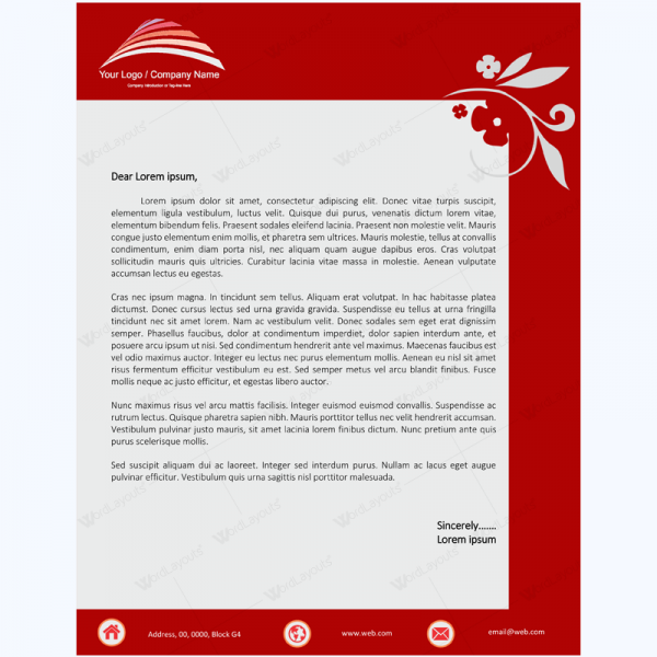 word 2007 letterhead