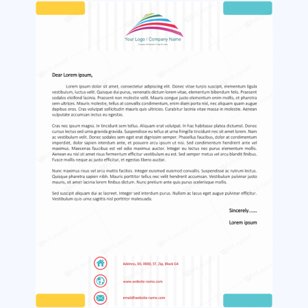 Letterhead template 02 word layouts for Pres a ply templates