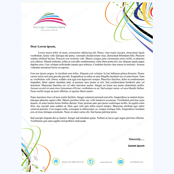 Letterhead Word Template