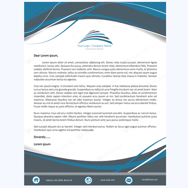 create letterhead template