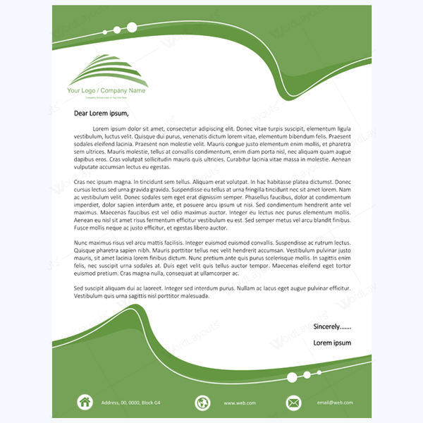 Word Design Templates Free Download  Best Free Letterhead Templates