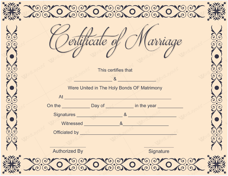 10 Beautiful Marriage Certificate Templates to Try This Season – How to Make Certificates in Word