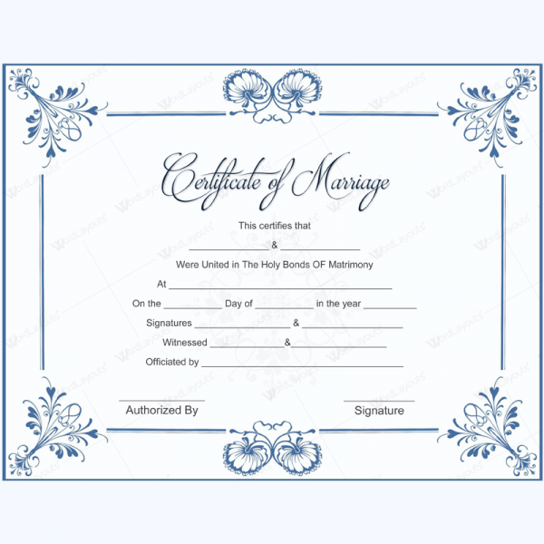 Letterheads Marriage Certificates Pricing Free Templates
