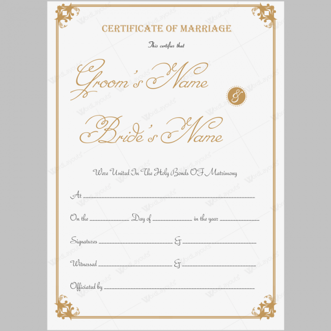 It's just a photo of Printable Marriage Certificate for antique