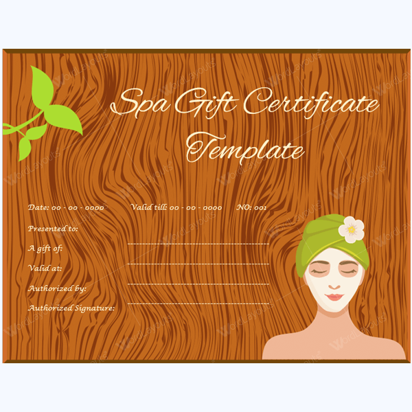 Massage Gift Certificate Format