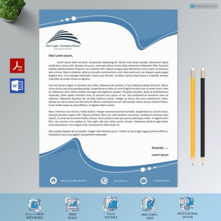 Editable Personal Letterhead Sample