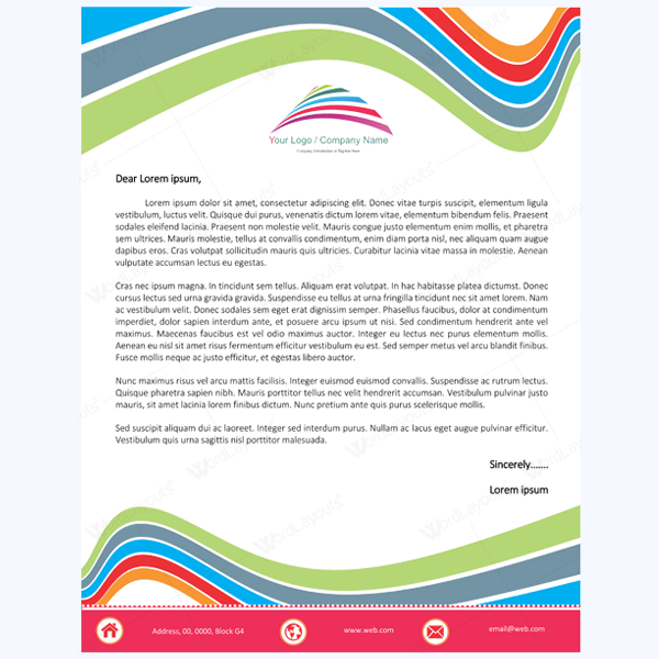 Stay professional by using these 10 letterhead templates personal letterhead templates spiritdancerdesigns Choice Image