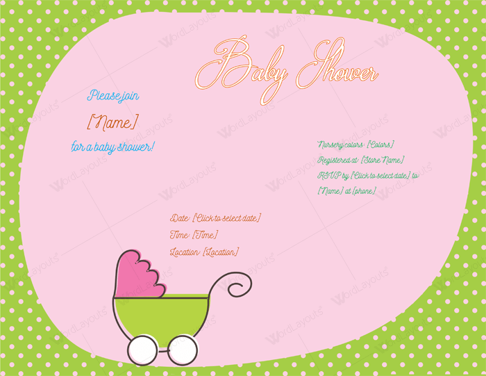 Use A Baby Shower Invitation Template Printable Designs - Free baby shower invitations templates for word