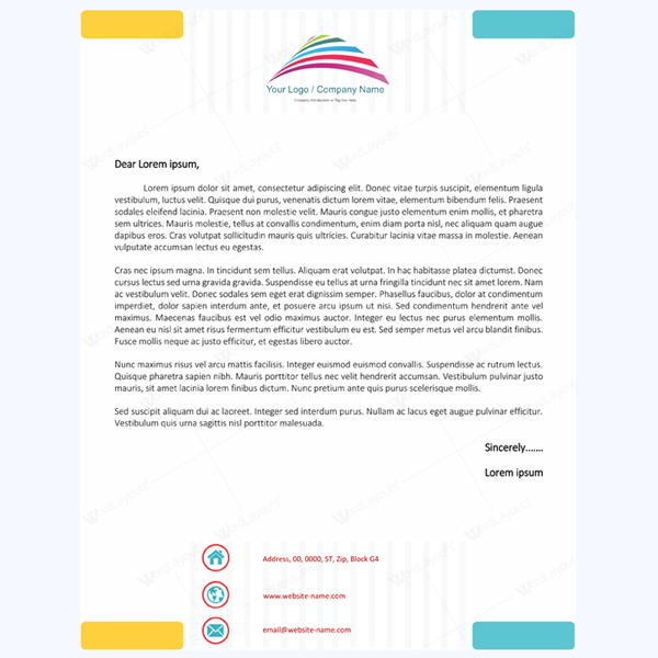 Stay Professional by Using These 10 Letterhead Templates – Professional Letterhead
