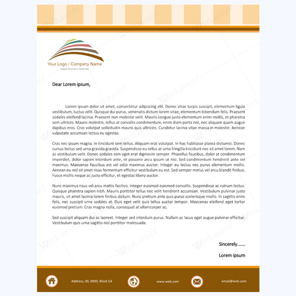 Professional Company Letterhead Template: Stay Professional By Using These 10+ Letterhead Templates