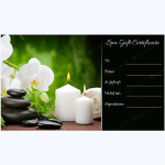 free spa gift certificate template printable