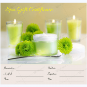 spa gift certificate template free