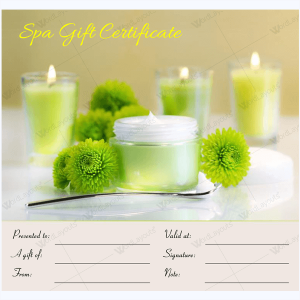 Spa gift certificate templates 100 spa and saloon designs spa gift certificate template free yadclub Images