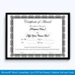 Elegant Award Certificate