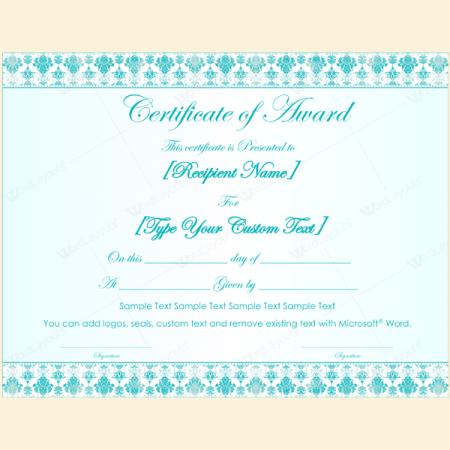 award certificate template microsoft word