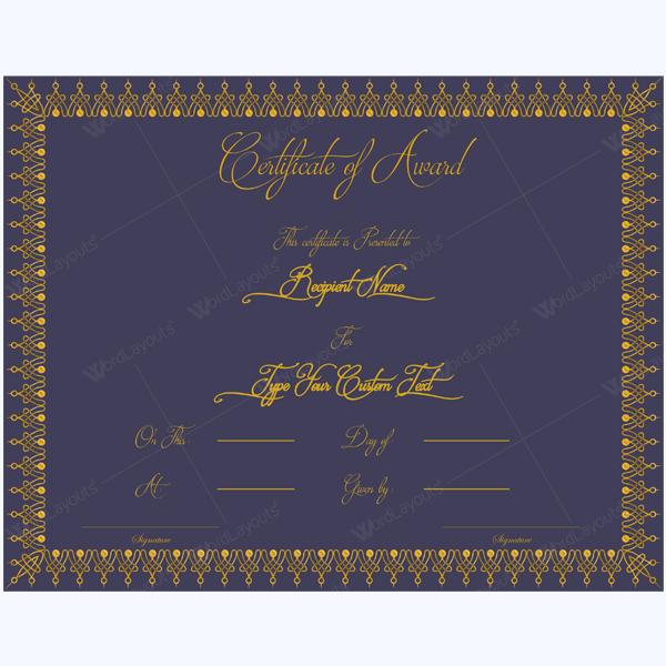 award certificate pdf