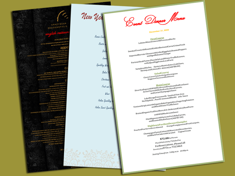 Dinner Menu Template Featured Image