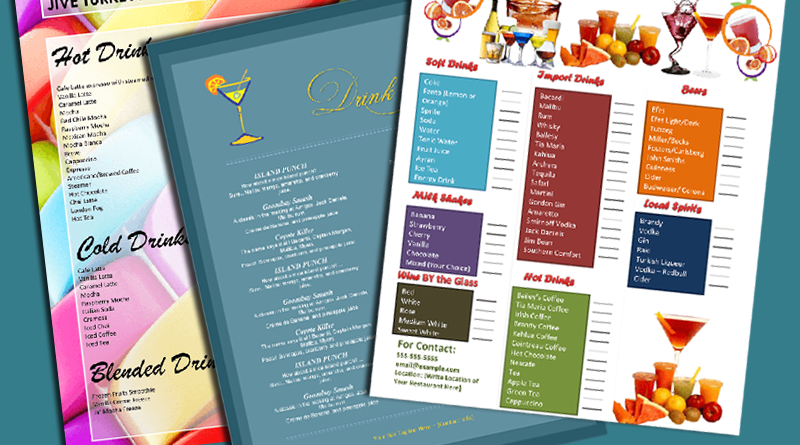 Drinks Menu Templates - Featured Image