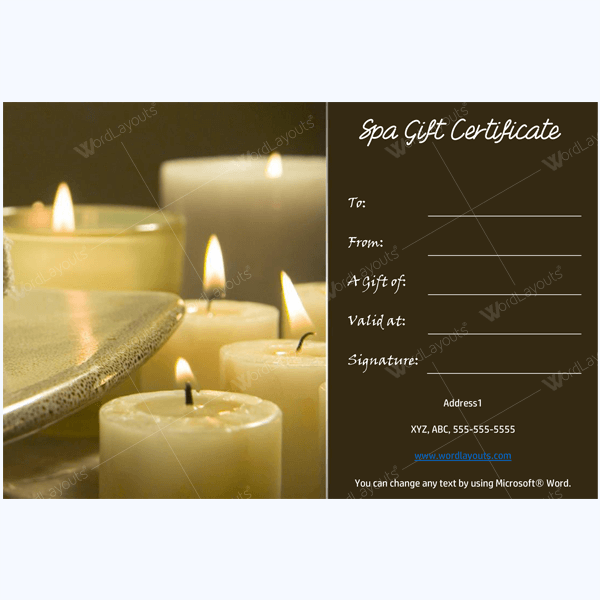 Plus spa gift certificate designs to try this season spa gift certificate designs yadclub Images
