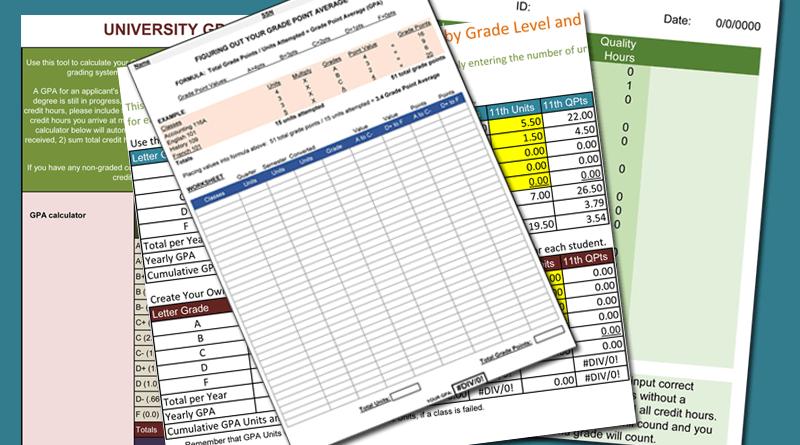 5  gpa calculators for excel u00ae to keep track your gpa