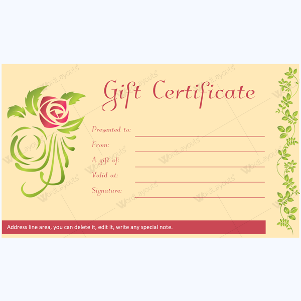 gift certificate 28