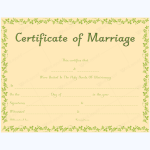 marriage certificate template microsoft word
