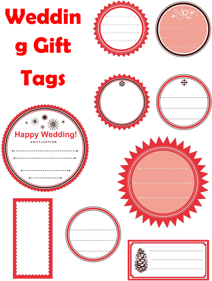 How To Make Wedding Gift Tags : Plus Gift Tag Templates to Create a Personalized Gift Tag
