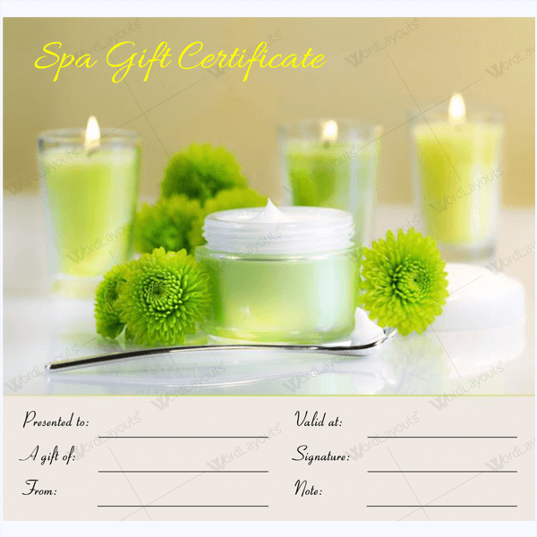 50 plus spa gift certificate designs to try this season massage gift certificate yadclub