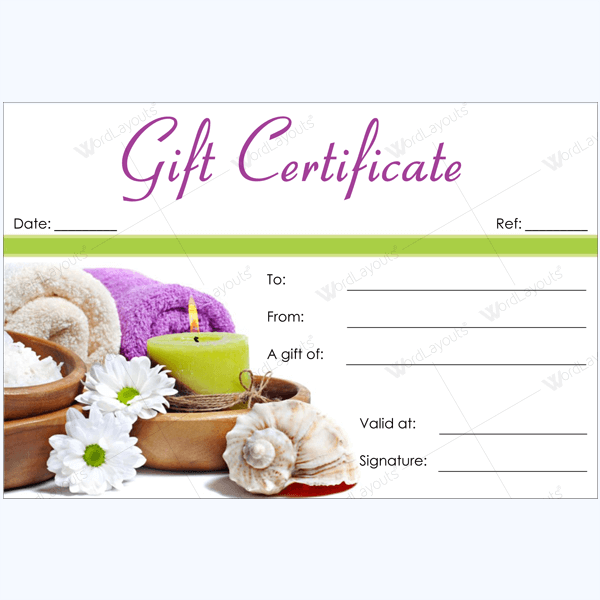 50 spa gift certificate designs to try this season for Free beauty gift voucher template