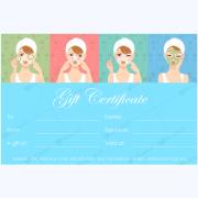 spa gift certificate design