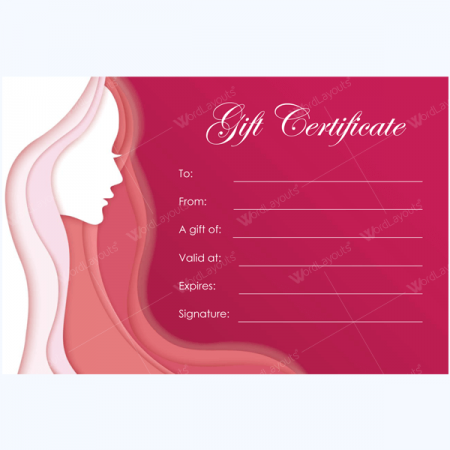 spa gift certificate template word