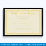 Award-Certificate-028-YLW