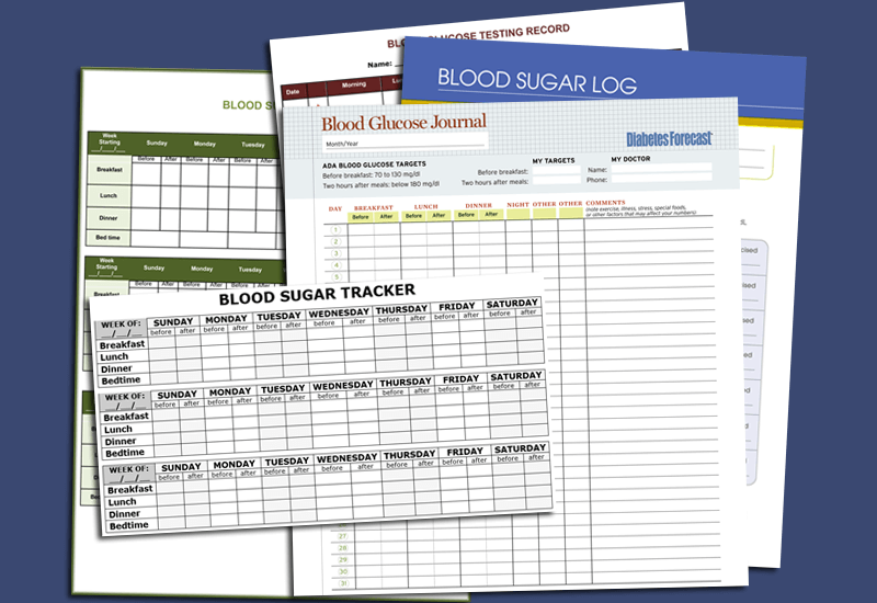 Blood Sugar Log Templates for Excel®, Word and PDF