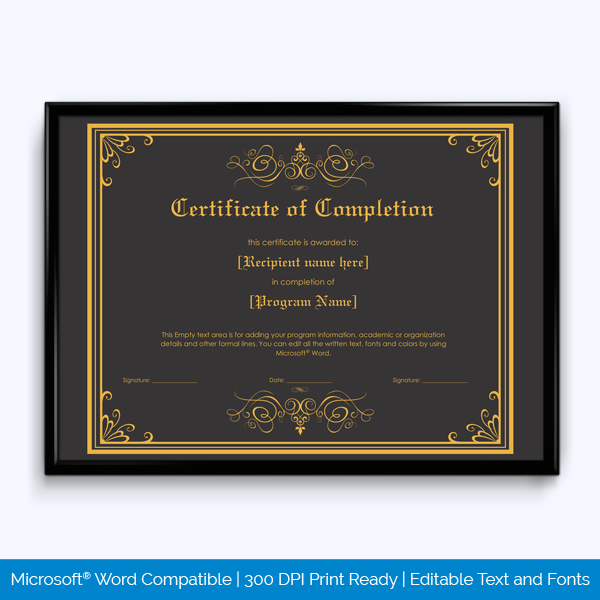 Certificate Of Completion 05