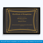 Free-Editable-Certificate-of-Completion