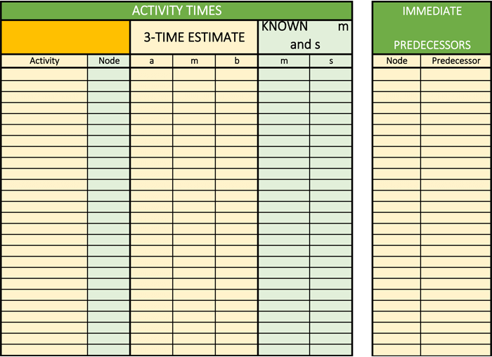 Critical Path Analysis for Excel®