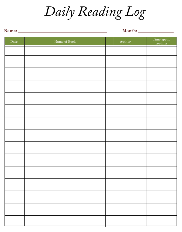 Printable reading logs with parent signature 1000 images for Summer reading log template