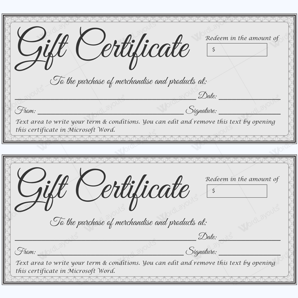 Gift Certificate 38