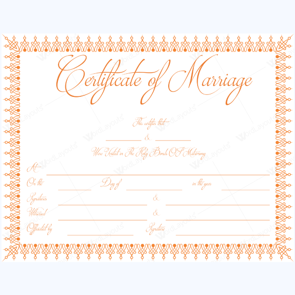 marriage licence template
