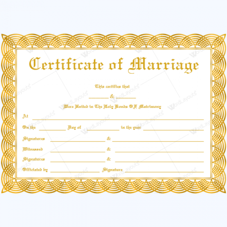 marriage certificate templates easily create certificates