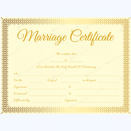 marriage certificate download free