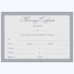 marriage certificate template psd