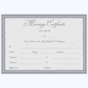 Marriage certificate templates 500 printable designs marriage certificate template psd yadclub