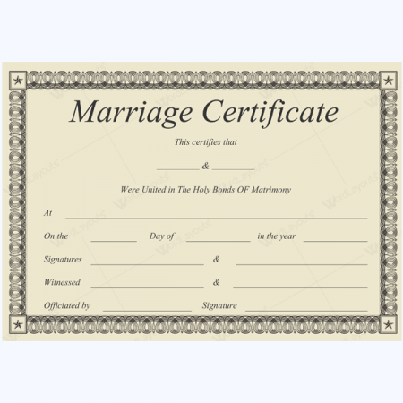 marriage certificate template - marriage certificate templates 500 printable designs