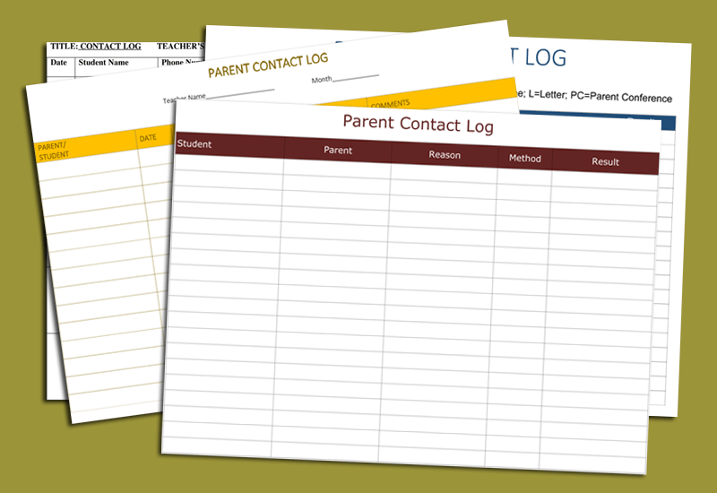 Parent Contact Log Template (cover)Parent Contact Log Template (cover)