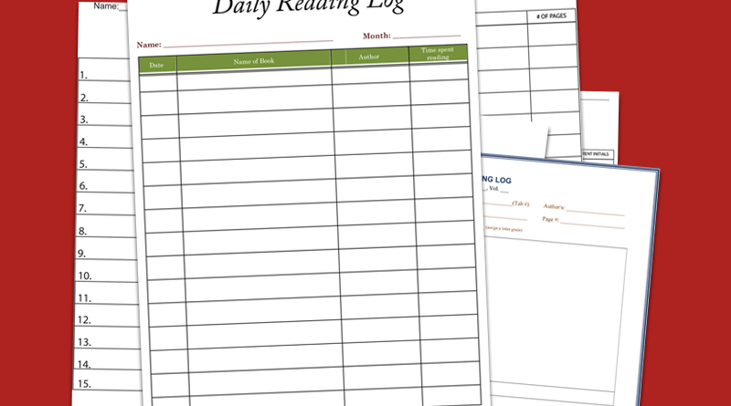 Reading Log Template (Cover)