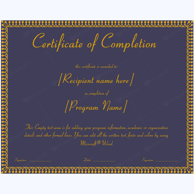 Certificate Of Completion 16